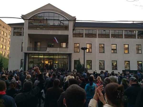 Экстремисты захватили офис Индустриального союза Донбасса