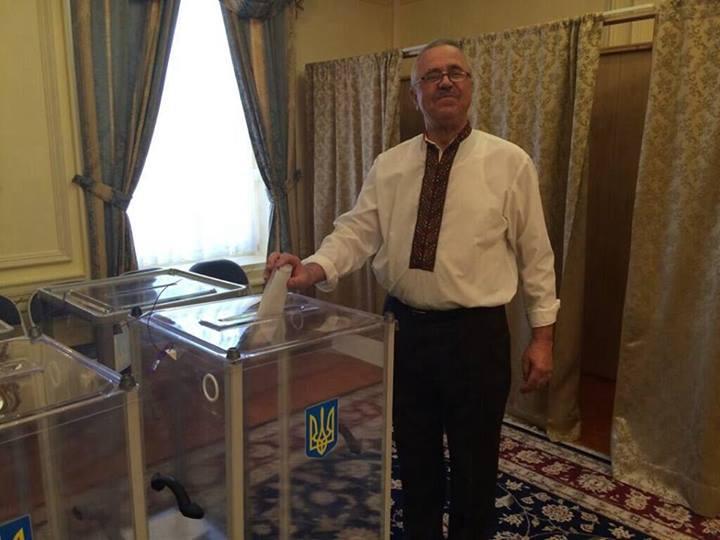 Первый избиратель в Вашингтоне. Фото: Мирослава Гонгадзе