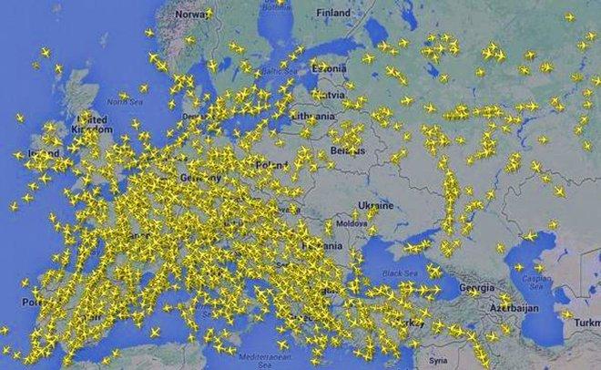 полеты над Украиной.