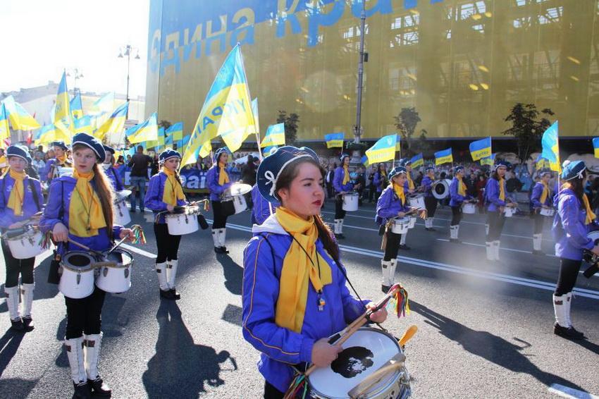Марш мира в Украине: многотысячный митинг прошел по улицам столицы (фото 3)