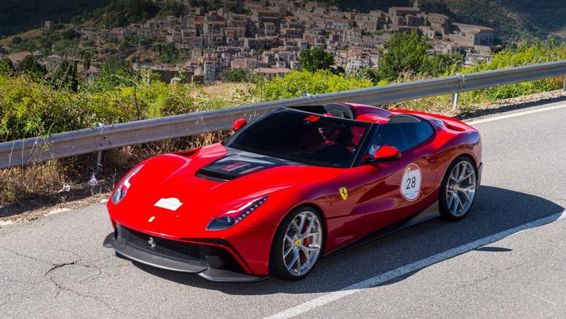 Ferrari F12 Berlinetta TRS. Собранный по заказу клиента, чьё имя не разглашается. Заказчик попросил Ferrari сделать особенную, открытую версию купе F12 Berlinetta. По неофициальной информации, стоимость этой уникальной машины составила более $4,2 миллиона.
