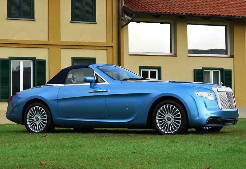 Rolls-Royce Hyperion. Это эксклюзивное авто заказал коллекционер Роланд Холл. Rolls-Royce Hyperion был сделан в 2008 году и представляет из себя кабриолет, чья внешность навеяна образами моделей, выпускаемых кузовным ателье Rollers в 1930-х годах. Дизайном занималось легендарное ателье Pininfarina.