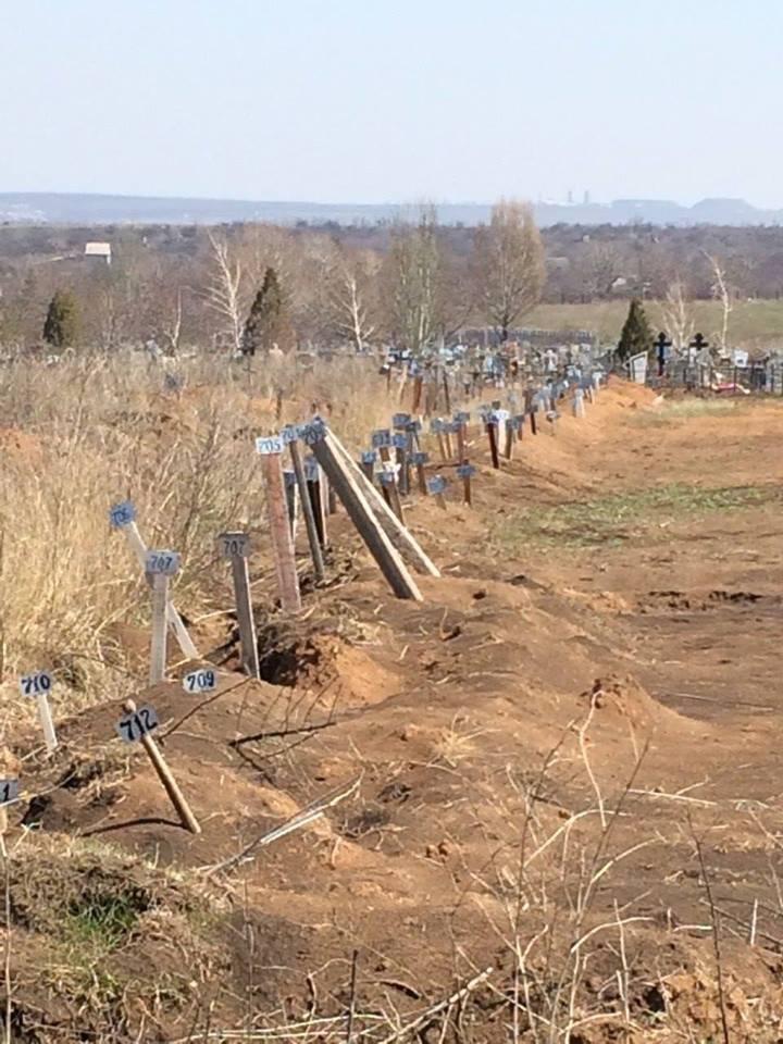Под Енакиево появилось кладбище безымянных российских наемников (фото)