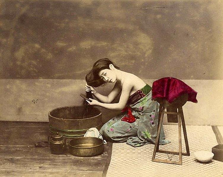 Эта серия фотографий, документирующая жизнь Японии, была сделана в 1863-1877 годах — в период становления японского духа и возникновения национальной японской идеи. (Фото: Felice Beato).