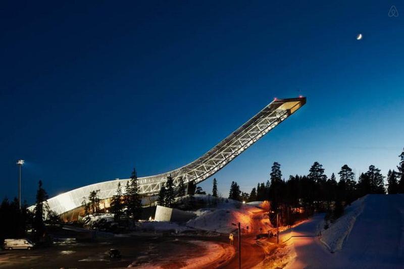 Пентхаус, расположенный в легендарном трамплине Норвегии (фото 1)