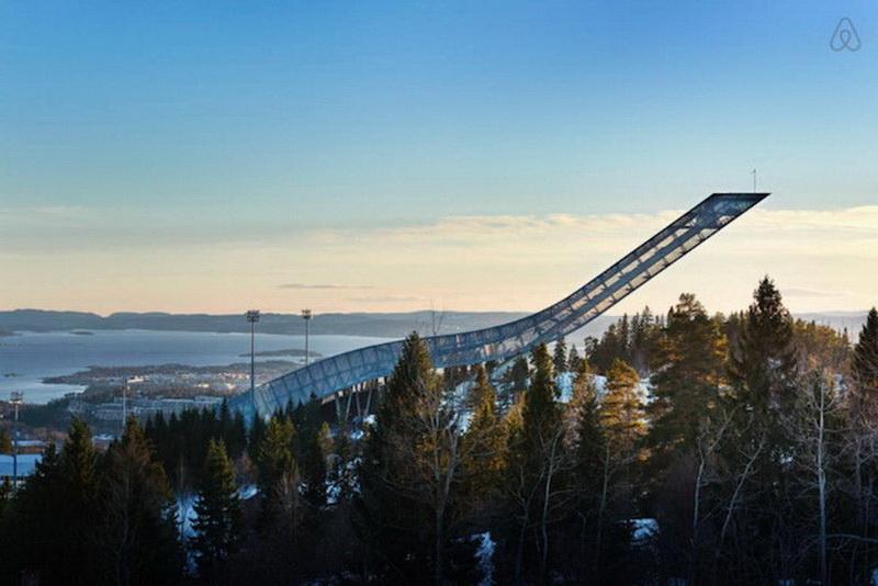 Пентхаус, расположенный в легендарном трамплине Норвегии (фото 8)