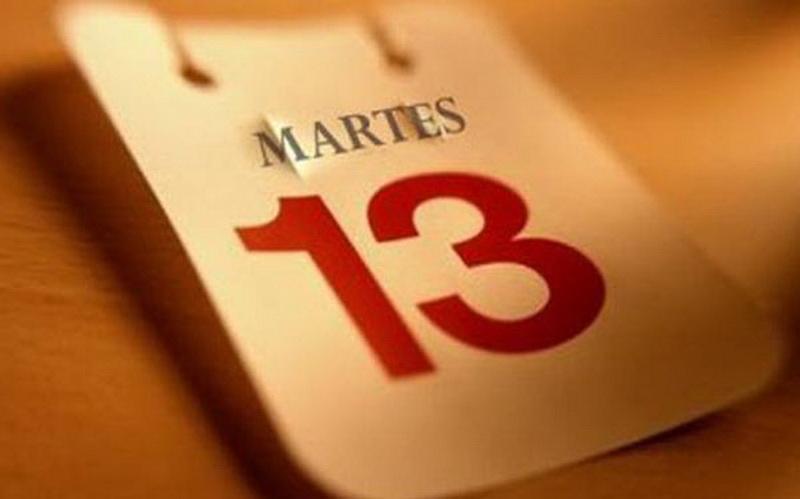 """Испания. В Испании верят, что """"неудачный день"""" - вторник, 13-е, а не пятница, 13-е. """"Вторник"""" по-испански - """"Martes"""", """"день Марса"""", который в Средние века считался воплощением зла."""