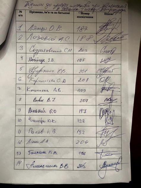 Бывший соратник Януковича в Фейсбук продает подписи за отставку Шокина, украденные у Егора Соболева (ФОТО)