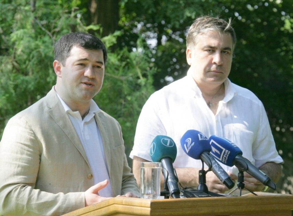 Голова ДФС Роман Насіров та одеський губернатор Міхеїл Саакашвілі