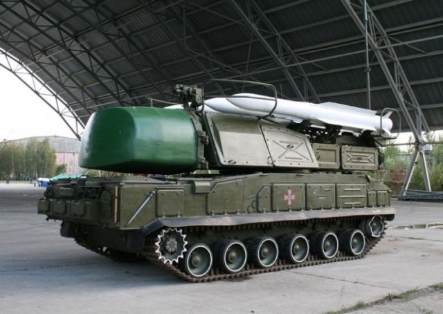 Украинский зенитно-ракетный комплекс «Бук М1»