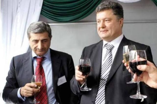 Тариэл Васадзе и Петр Порошенко